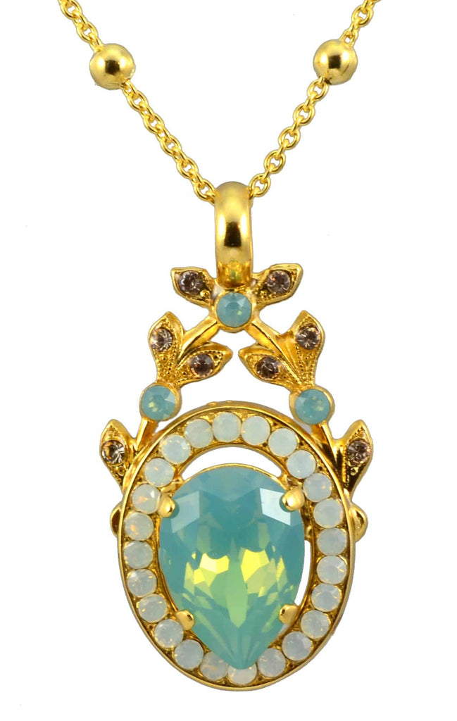 Mariana Gold Plated Swarovski Crystal Pendant Necklace, 22+4