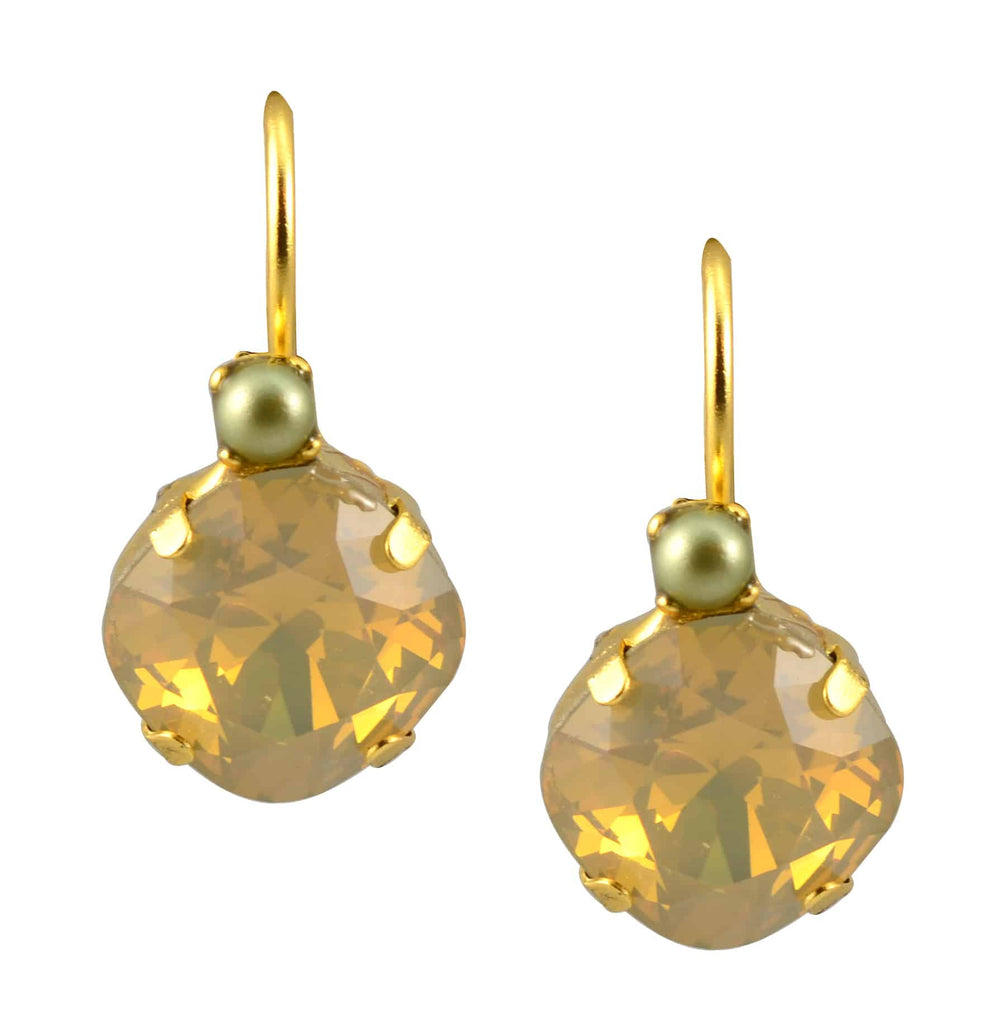 Mariana Gold Plated Round Petite Stack Swarovski Crystal Drop Earrings