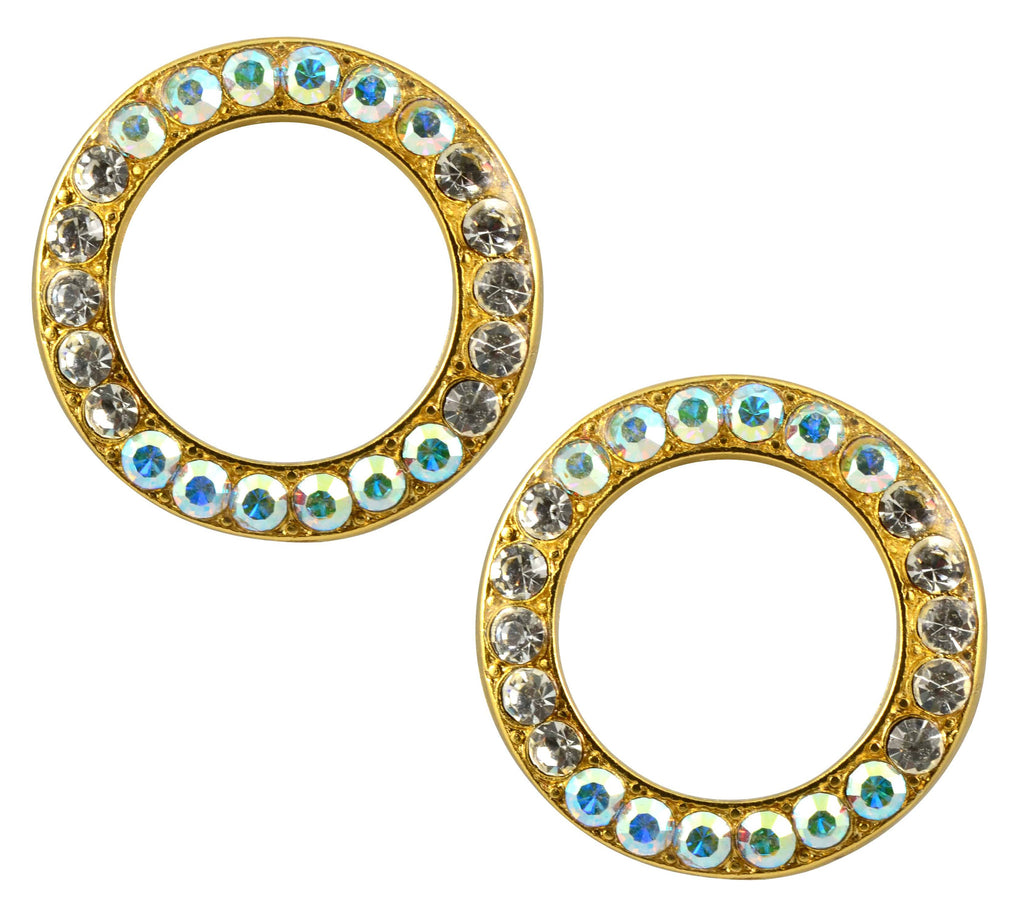 Mariana Jewelry Gold Plated Swarovski Crystal Round Stud Earrings