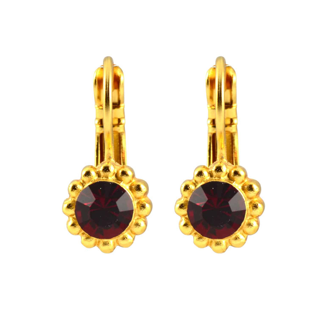 Mariana Jewelry Gold Plated Sunflower Drop Earrings with Siam Swarovski Crystal