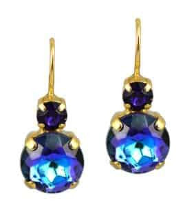 Mariana Jewelry Happy Hour Gold Plated Petite Round Swarovski Crystal Drop Earrings