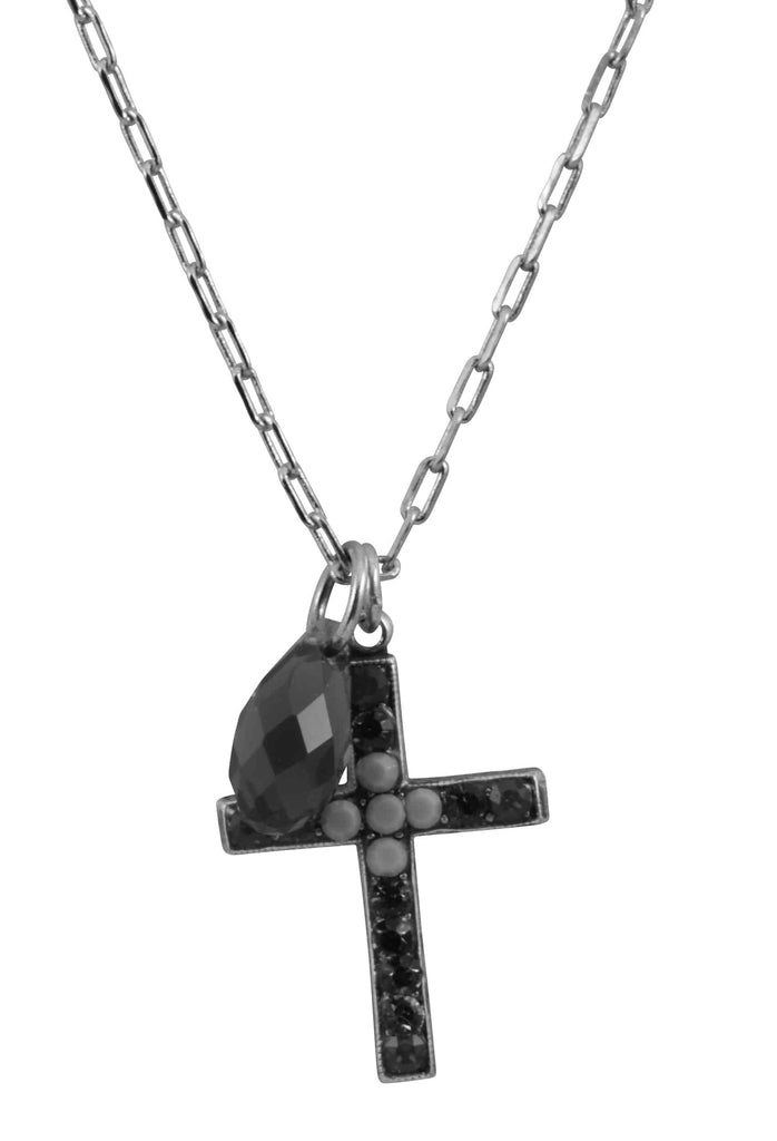 Mariana Inspire Silver Plated Swarovski Crystal Cross Necklace