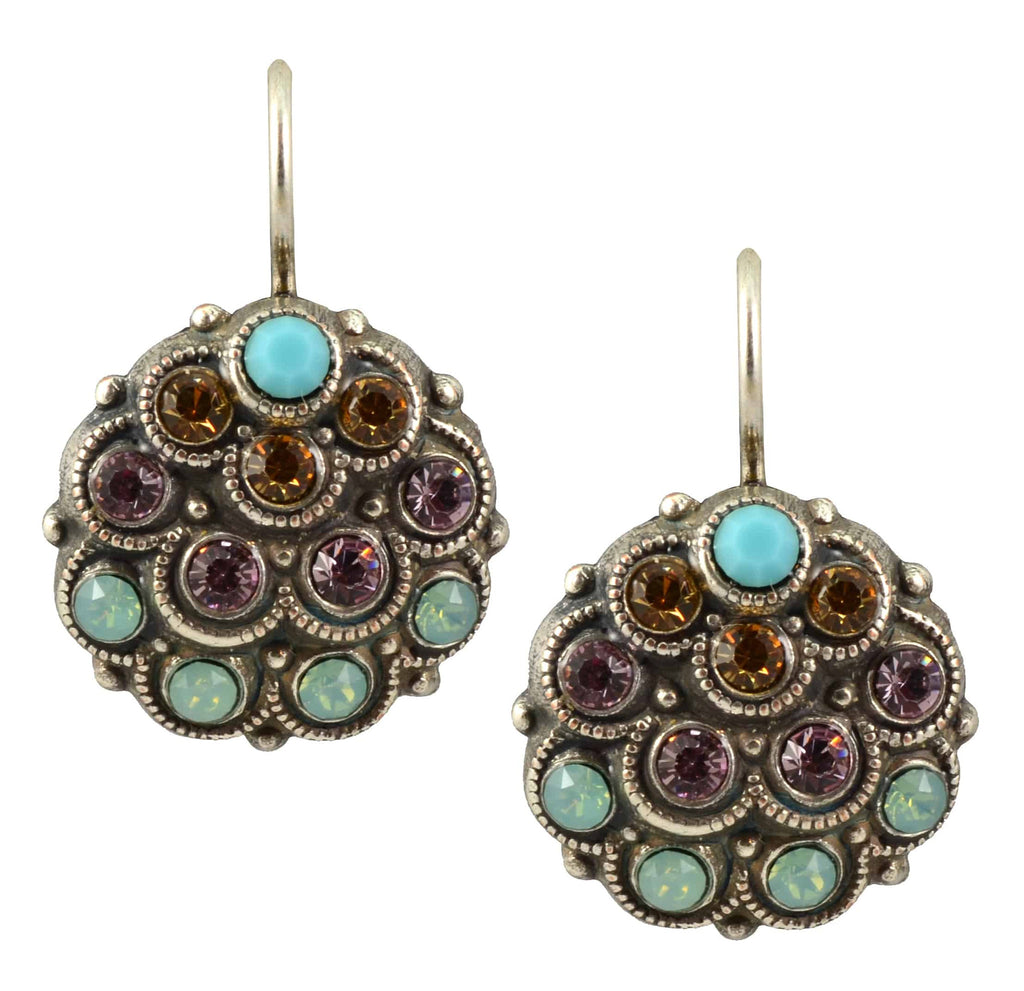 Mariana Jewelry Judy's Favorite Silver Plated Swarovski Crystal Peacock Drop Earrings