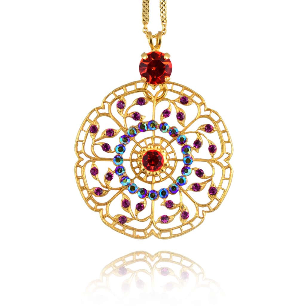 Mariana lady marmalade necklaces pendants pink mar n 5210 1075 mariana lady marmalade gold plated filigree circle pendant necklace 244 5210 1075 aloadofball Image collections