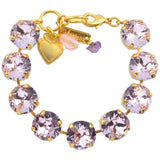 Mariana Large Tennis Bracelet, Gold Plated with Vintage Rose Swarovski Crystal, 8 4438 319319