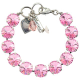 Mariana Jewelry Large Tennis Bracelet, Silver Plated with Light Rose Burst Swarovski Crystal, 8 4474R 223223