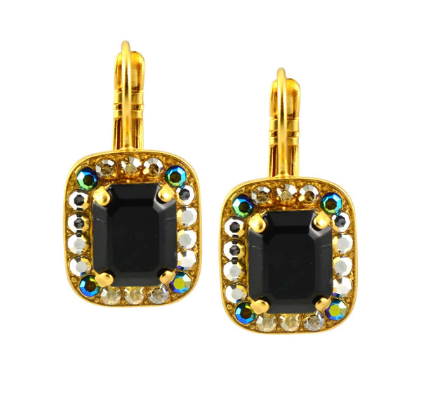 Mariana Midnight in Paris Gold Plated Swarovski Crystal Rectangle Drop Earrings