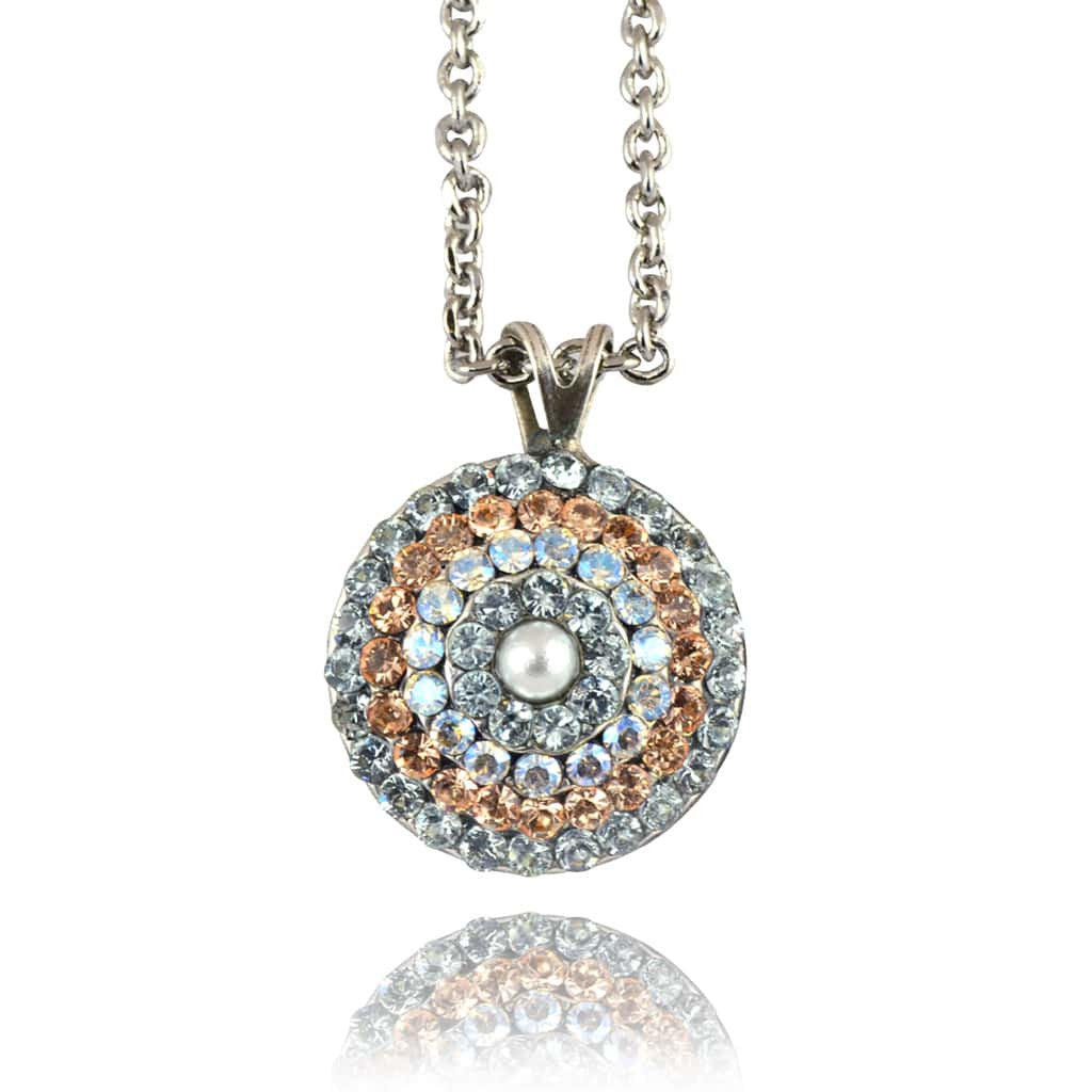 Mariana moon dance necklaces pendants champagne mar n 51931 mariana moon dance silver plated round pendant necklace 164 51931 mozeypictures Gallery