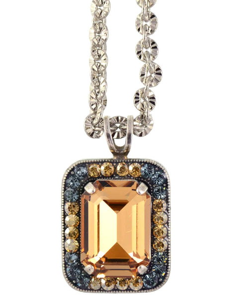 Mariana Moondrops Large Rectangle Pendant Necklace, Silver Plated with Swarovski Crystal, 16+4 5107 216-3