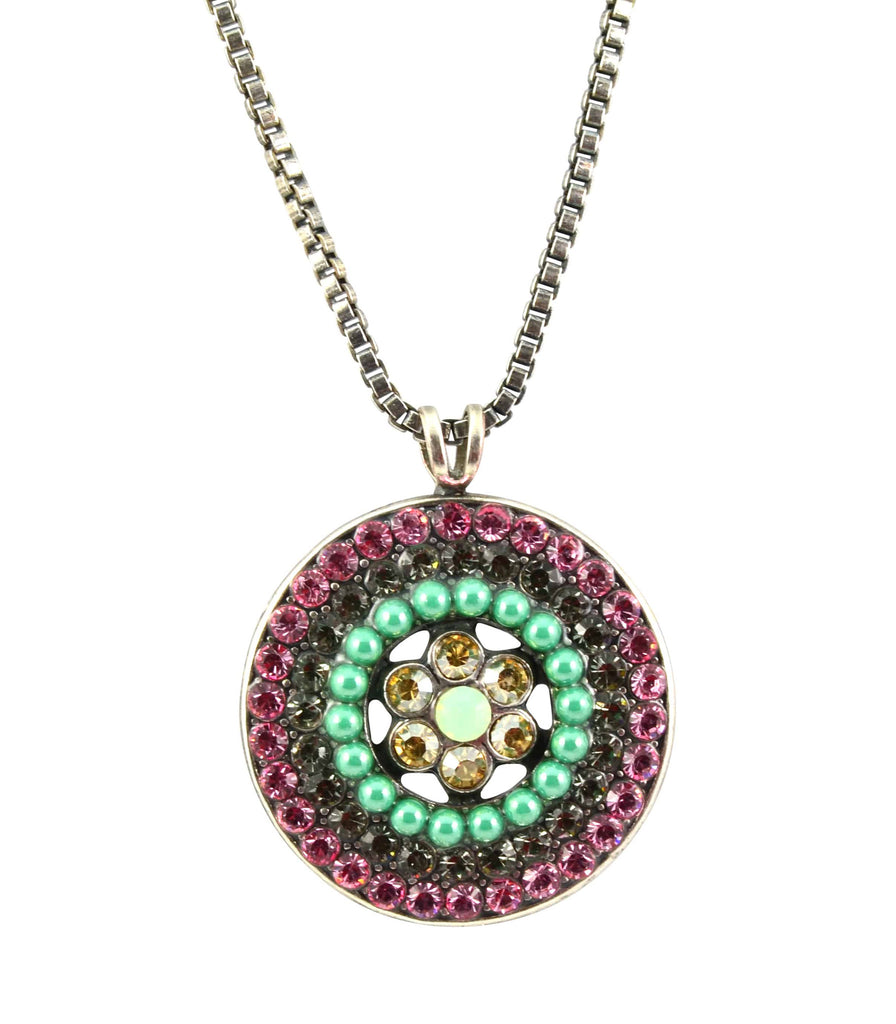 Mariana orchid necklace n 50781l 1050 sp en reverie mariana orchid silver plated swarovski crystal spanish roundel pendant necklace 244 aloadofball Choice Image
