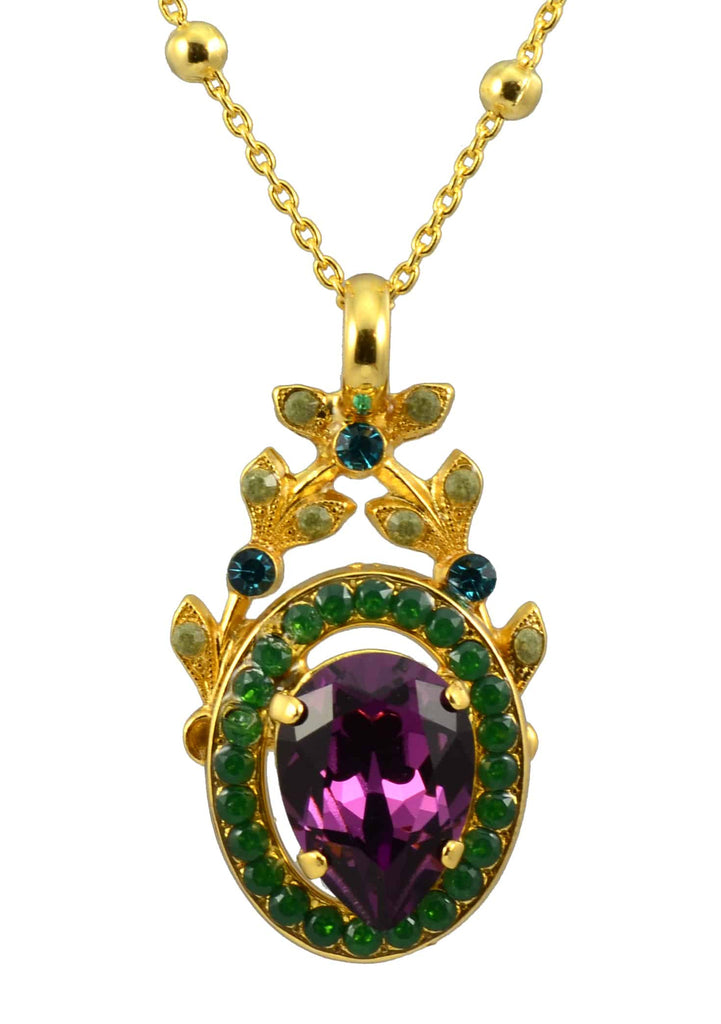 Mariana Jewelry Patience Gold Plated Swarovski Crystal Pendant Necklace, 22+4