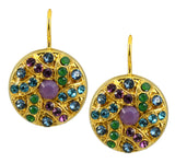 Mariana Jewelry Patience Gold Plated Swarovski Crystal Shield Drop Earrings