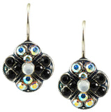 Mariana Jewelry Peace Silver Plated Swarovski Crystal Clover Drop Earrings