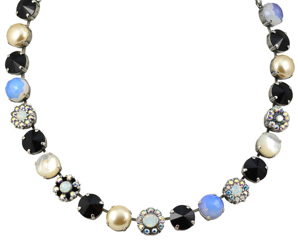 Mariana Peace Silver Plated Large Swarovski Crystal Necklace, 17