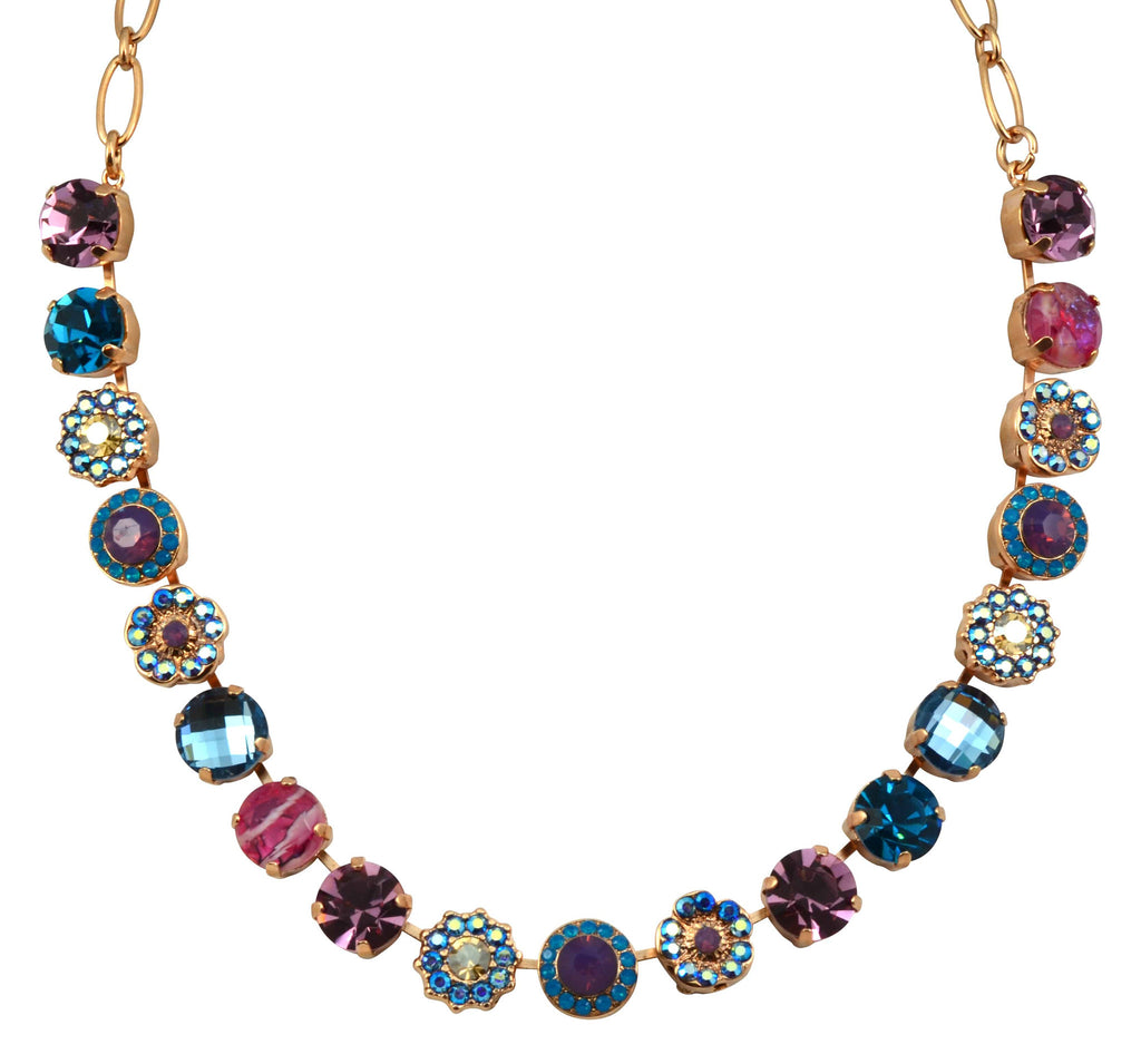 Mariana Jewelry Serenity Rose Gold Plated Swarovski Crystal Circles Necklace, 18