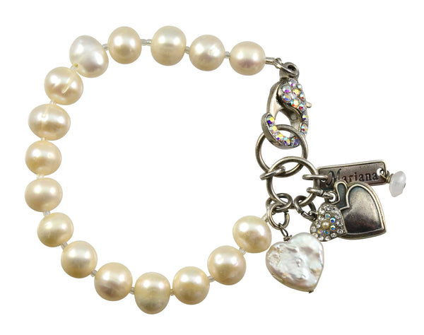 Mariana Silver Plated Swarovski Crystal Tennis Bracelet With Encrusted Lobster Claw Clasp