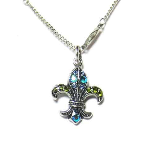 Mariana emerald city fleur de lis necklace n 5108 1001 sp en reverie mariana silver plated jade swarovski crystal fleur de lis pendant necklace aloadofball Image collections