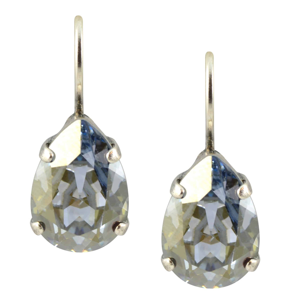 Mariana Jewelry Silver Plated Raindrop Swarovski Crystal Drop Earrings in Moonlight