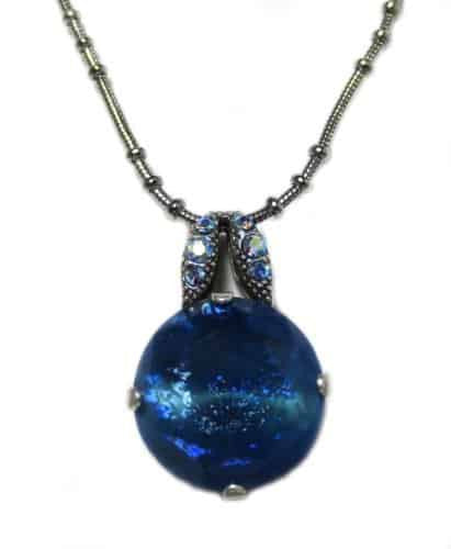 Mariana Silver Plated Swarovski Crystal Round Pendant Necklace