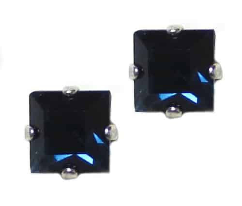 Mariana Silver Plated Square Swarovski Crystal Post Earrings in Montana