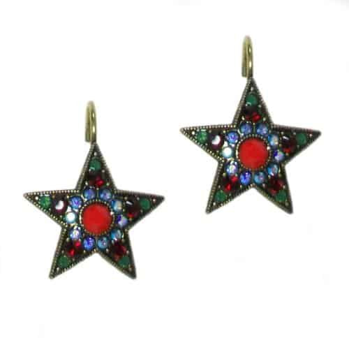 Mariana Jewelry Silver Plated Star Burst Swarovski Crystal Drop Earrings