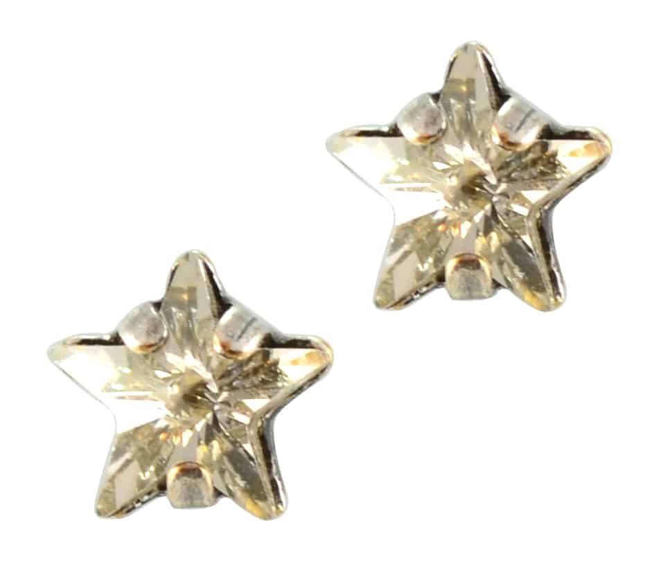Mariana Jewelry Silver Plated Petite Star Swarovski Crystal Post Earrings in Crystal Silver