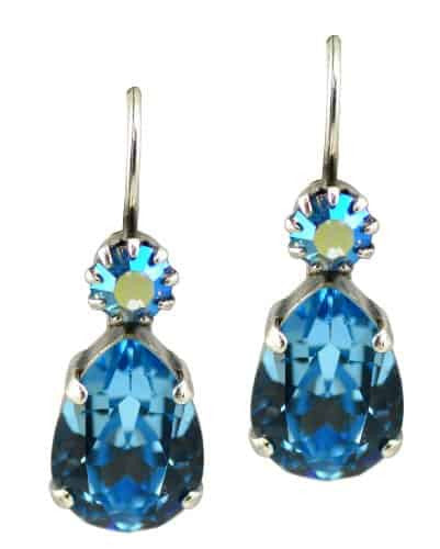 Mariana Jewelry Silver Plated Teardrop Swarovski Crystal Drop Earrings