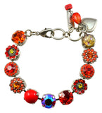 Mariana Jewelry Strength Silver Plated Flower Swarovski Crystal Tennis Bracelet, 8