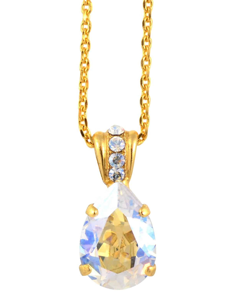 Mariana Jewelry Teardrop Pendant Neckalce, Gold Plated with Swarovski Crystal, 18 5312 001MOL