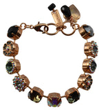 Mariana Tuxedo Rose Gold  Plated Swarovski Crystal Tennis Bracelet, 8