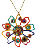 Michal Golan Confetti Flower Pendant Necklace on Single Chain