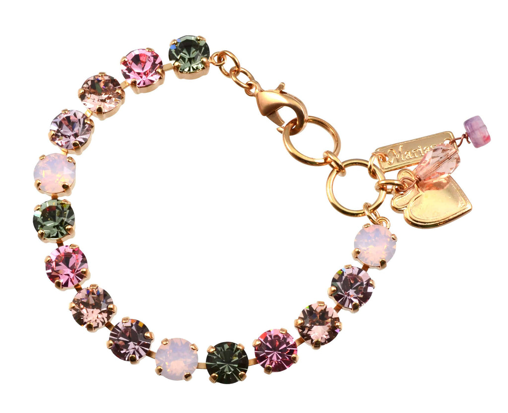 Pink Ice Rose Gold Plated Swarovski Crystal Tennis Bracelet, 8