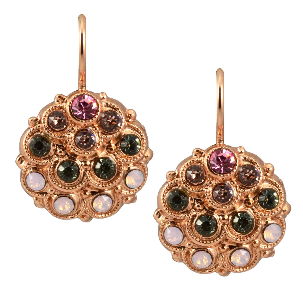 Mariana Jewelry Pink Ice Rose Gold Plated Swarovski Crystal Peacock Drop Earrings