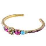 Sorrelli Southwest Brights Antique Gold Plated Dazzling Dotted Line Cuff