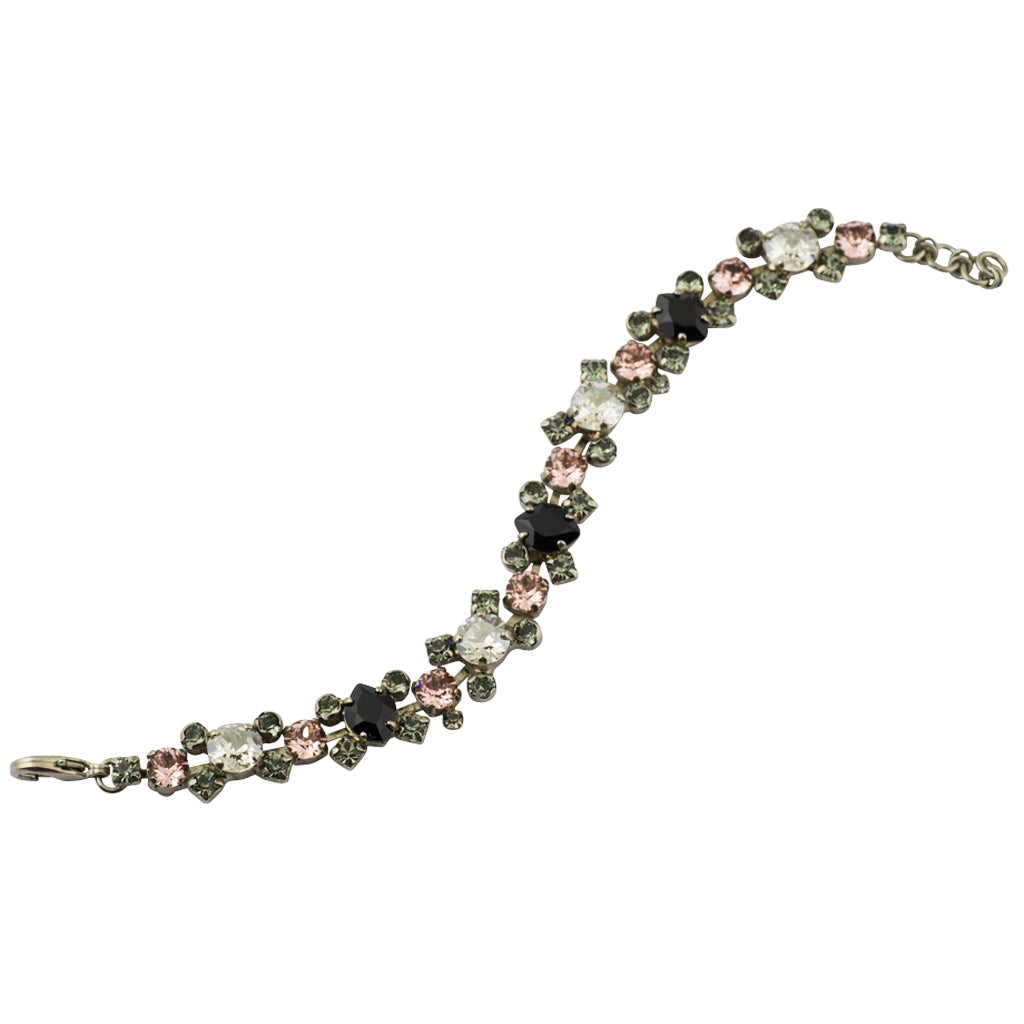 Sorrelli Crystal Noir Antique Silver Plated Perfect Harmony Bracelet
