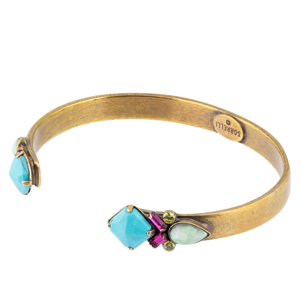 Sorrelli Botanical Brights Antique Gold Plated Cassia Bracelet