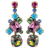 Sorrelli Southwest Brights Antique Gold Plated Glittering Multi-Cut Crystal Earring