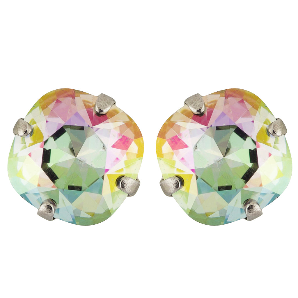 Sorrelli Crystal Envy Antique Silver Plated Halcyon Stud Earrings