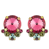 Sorrelli Botanical Brights Antique Gold Plated Regal Rounds Earring