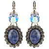 Sorrelli Ultramarine Antique Silver Plated Doubled Oval Earring