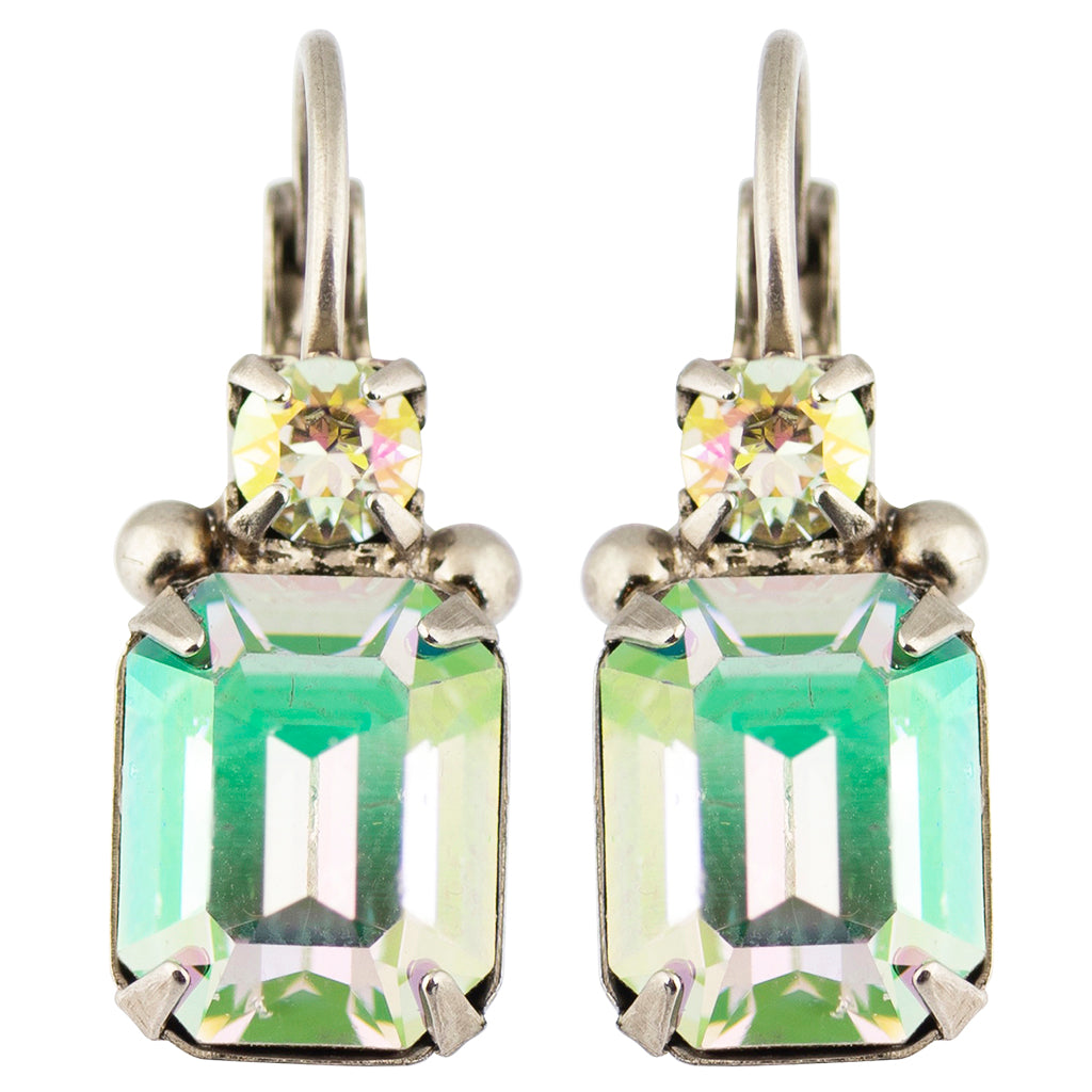Sorrelli Crystal Envy Antique Silver Plated Zelmira Stud Earrings