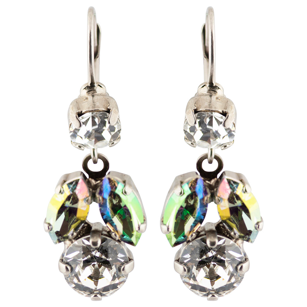 Sorrelli Crystal Envy Antique Silver Plated Paola Dangle Earrings