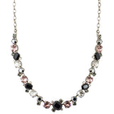 Sorrelli Crystal Noir Antique Silver Plated Novelty Multi-Cut Crystal Necklace