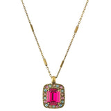 Sorrelli Radiant Sunrise Antique Gold Plated Opulent Octagon Pendant Necklace
