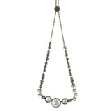 Sorrelli Crystal Envy Antique Silver Plated Katarina Tennis Necklace