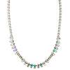 Sorrelli Crystal Envy Antique Silver Plated Reyna Tennis Necklace