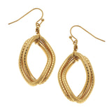 Susan Shaw Jewelry Double Chain Earrings in Gold
