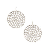 Susan Shaw Silver Plated Round Filigree Dangle Earrings