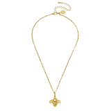 Susan Shaw Bee Chain Necklace, Gold Plated Pendant, 16+3