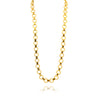 Susan Shaw Textured Link Chain Necklace, Gold Plated Long Round and Connector Chain, 32